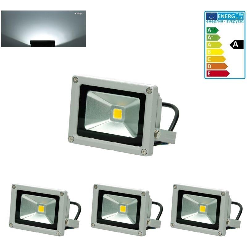 3x faro faretto proiettore lampada a LED per esterno color bianco freddo 10W