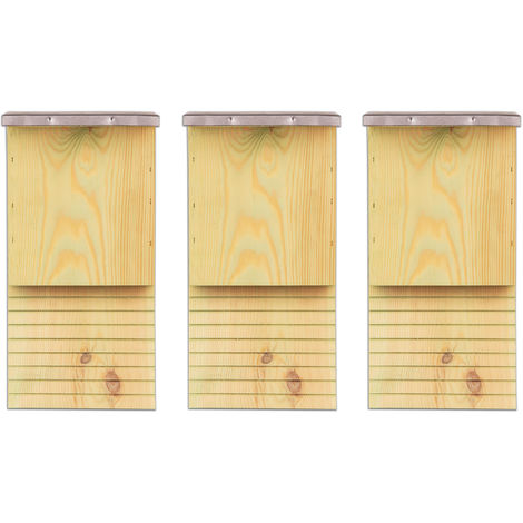 3x Fledermauskasten Fledermaushaus für Fledermäuse Fledermaus Unterschlupf Nistkasten Haus