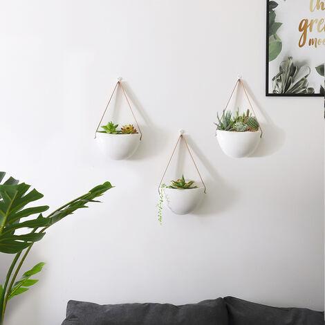 3X Flower Plant Pot Indoor Outdoor Garden Wall Fence Hanging Planter Box Basket