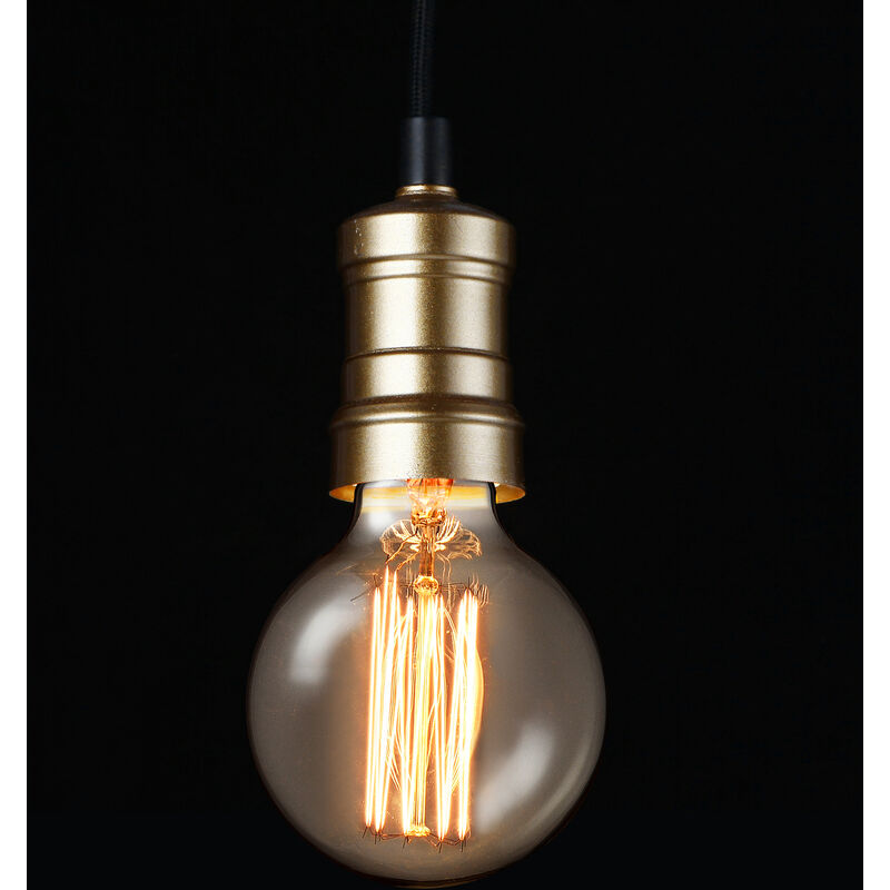 Lux.Pro ® Hängeleuchte Lampenfassung Deckenleuchte Weiß Retro Pendelleuchte