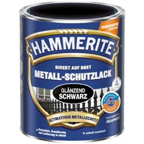 3x Hammerite Metall-Schutzlack HA 750 ml schwarz
