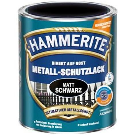 3x Hammerite Metallschutz-Lack 750 ml matt schwarz