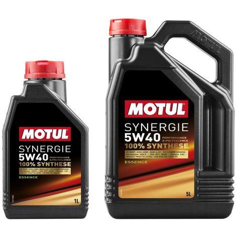 3x Huile Motul synergie Essence 5W40 bidon de 5L et 1L