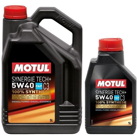 3x Huile Motul synergie Tech plus 5W40 bidon de 5L et 1L