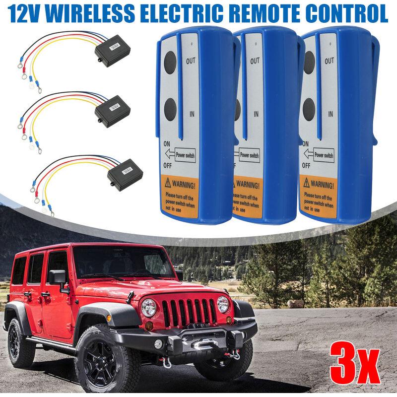 Swagx - 3X Kit de télécommande de treuil sans fil de voiture 12V pour camion pour Jeep SUV ATV Kit de remorque de véhicule 12V accessoires de voiture