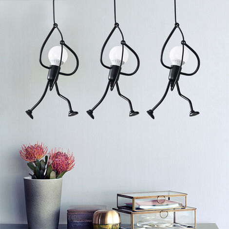 3x Lámpara colgante lámpara de techo vintage Creativo Luz colgante de Lámpara Salon Techo para comedor, dormitorio, sala de estar