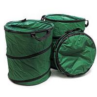 3x Leaf Bag Round 100l Heavy Duty Pop Up Garden Bag Waste Bag Lawn Bag Garden Waste Bag Reusable