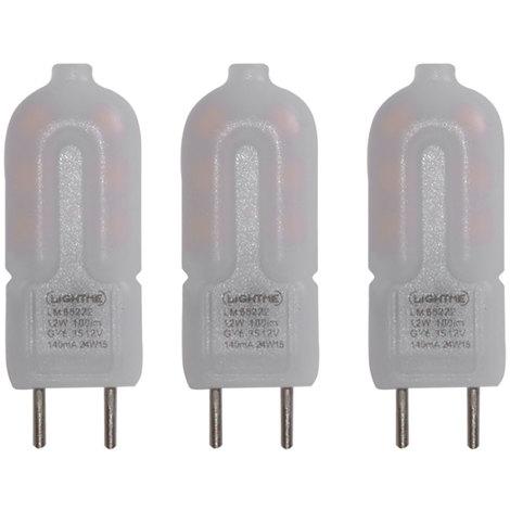 3x LED 1,2 Watt Leuchtmittel GY6.35, EEK A++, warmweiß