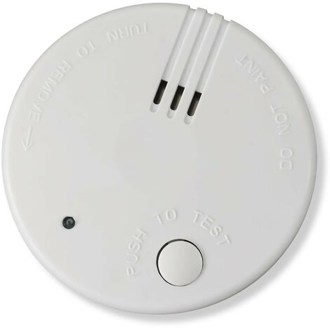 3x Nemaxx Mini-FL2 Rauchmelder - hochwertiger & diskreter Mini Brandmelder Feuermelder Rauchwarnmelder mit Lithium Batterie - nach DIN EN 14604 + 3x Nemaxx Magnetbefestigung