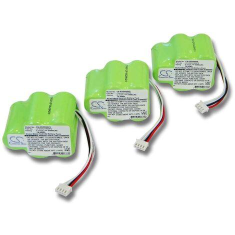 3x vhbw Ni-MH Batterie pour aspirateur Hoover Robot RVC0010, RVC0010, RVC0011, RVC0011-001. Remplace: 945-0006, 945-0024, LP43SC3300P5.