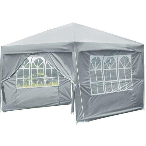 3x3M Outdoor Gazebo Marquee Tent Grey