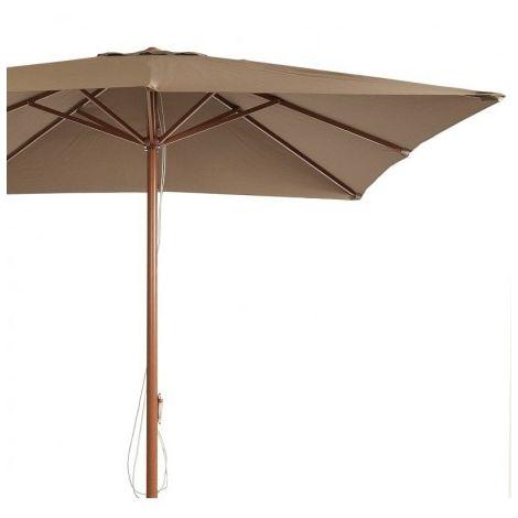 3x3m Parasol cuadrado de  aluminio color madera AM1 de Resol pho1032001-DESKandSIT-300x300cm