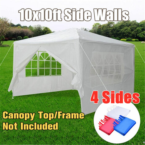 3x3M Party Tent Heavy Duty Outdoor Gazebo Wedding Canopy with 4 Side Wall Cover (White)