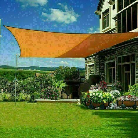 3x3m Sun Sail Shade Square Awning Canopy Garden Sun Cover Patio Sunscreen - Orange