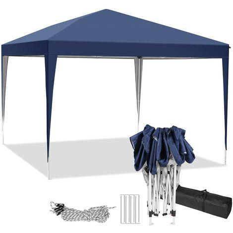 3x3m tonnelle jardin tente de reception et pique nique pliant Bleu - Bleu