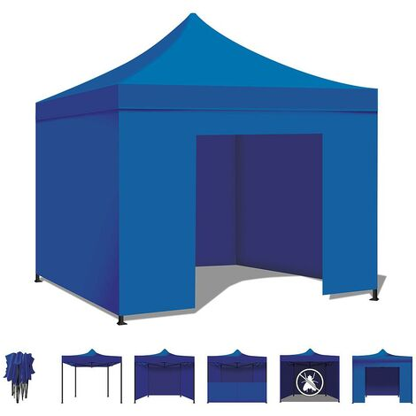 3x3MT Heavy Duty Waterproof Foldable Garden Gazebo Tent. White