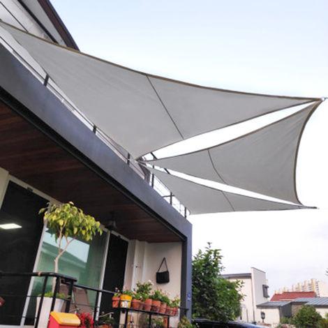 3x3x3M Parasol impermeable Vela 300D Tejido Oxford Toldo Sombrilla Refugio Amarillo