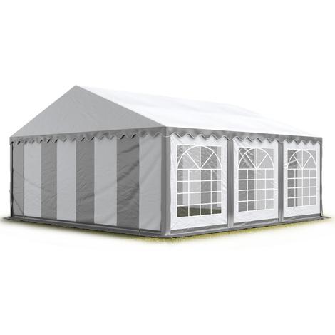 3x6 m Tente de réception/Barnum gris-blanc toile de haute qualité 500g/m² PVC ECONOMY