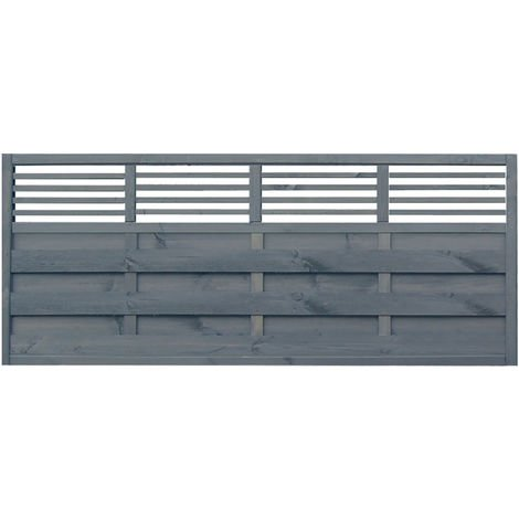 3x6 Sorrento Slat Top Panel ONLY AVAILABLE WITH A PURCHASE OF 3 FENCE PANELS