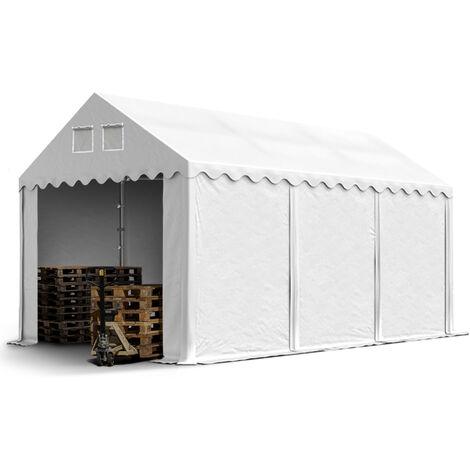 3x6m Tente de stockage INTENT24, PVC env. 550 g/m², H. 2,6m