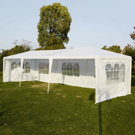 3X9M Gazebo Wedding Tent Waterproof Canopy Awning Marquee Outdoor Party Garden