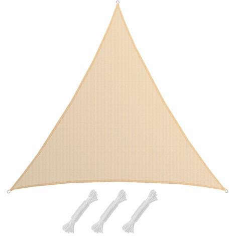 3XL-Dreieck Sonnensegel 6x6x6 HDPE Atmungsaktiv UV-Sonnen-Schutz Terrasse Balkon