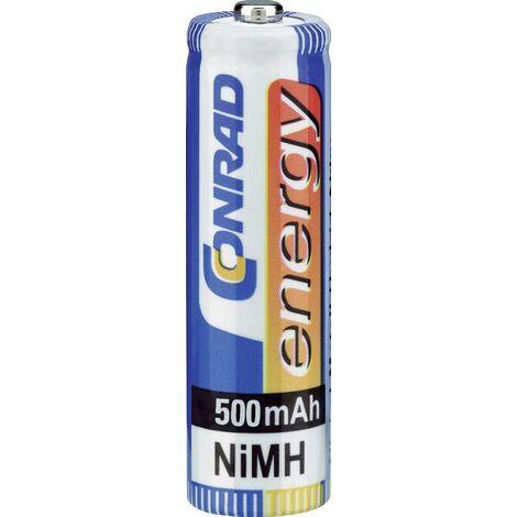 4 accus AAA (R03) NiMH 1,2V 500 mAh Conrad energy A37963