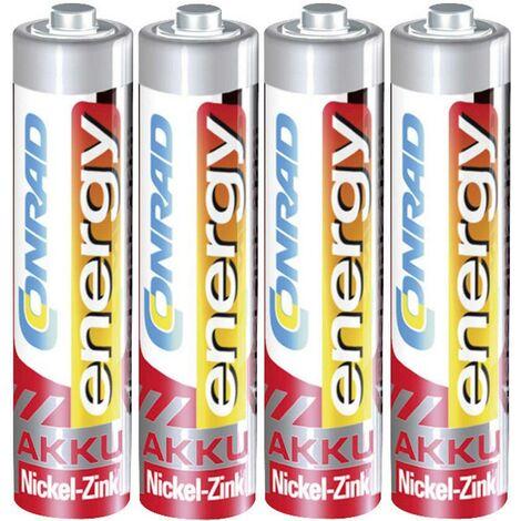 4 accus AAA (R03) NiZn 1,6 V 900 mWh Conrad energy A35779