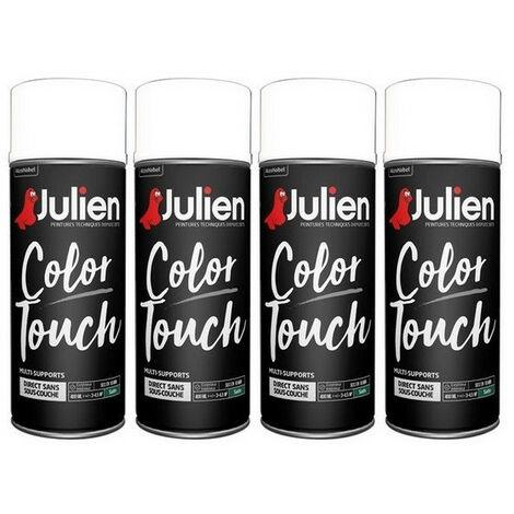 4 aérosols blanc satin 400 ml RAL9010 Color Touch JULIEN
