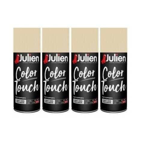 4 aérosols Ivoire brillant 400 ml RAL1015 Color Touch JULIEN