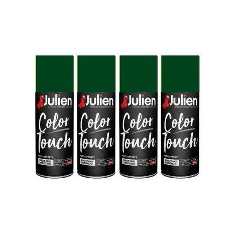 4 aérosols vert brillant 400 ml RAL6005 Color Touch JULIEN