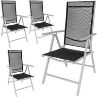 4 Aluminium Gartenstühle - Gartensessel, Gartengarnitur, Balkonstühle