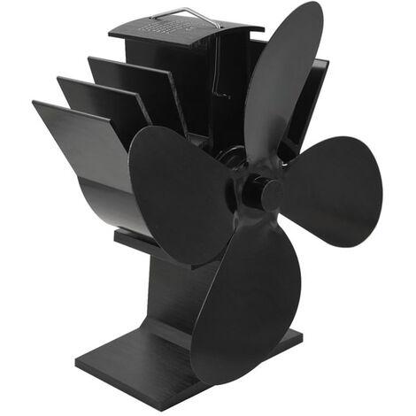 4-Blade Heat Powered Cuisiniere Ventilateur Thermodynamique Cheminee Ventilateurs Pour Bois Log Burner Foyer Silencieux Ecologique Distribution De Chaleur