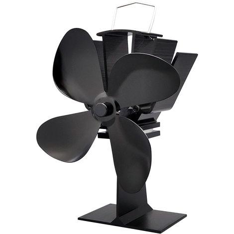 4-Blade Ultra Quiet Heat Blower Fan