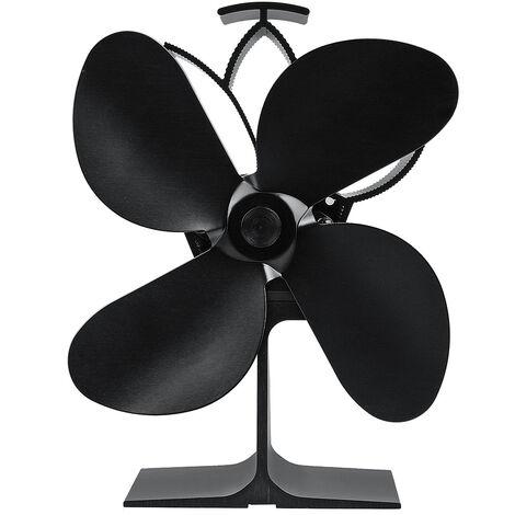 "main image of ""4 Blades Eco Friendly Wood Fireplace Fan Mohoo Wood Stove Fan"""
