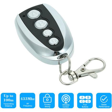 4 botones de tecla tactil Copia transmisor, puertas de garaje de control remoto llave Fob
