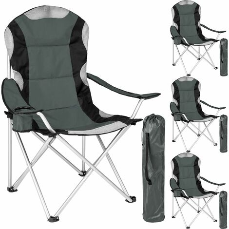 Superb 4 Camping Chairs Padded Folding Chair Fold Up Chair Squirreltailoven Fun Painted Chair Ideas Images Squirreltailovenorg