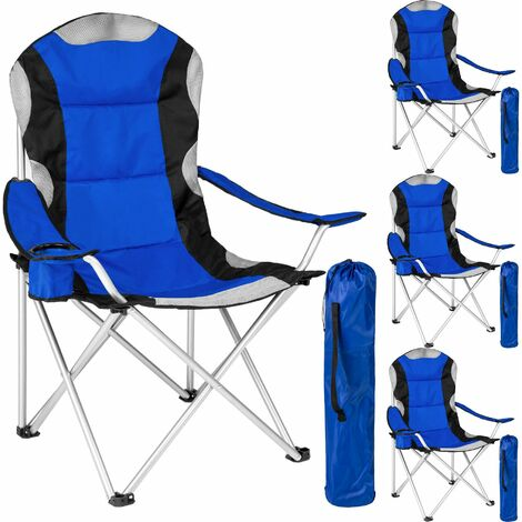 4 Camping chairs - padded - folding chair, fold up chair, folding camping chair