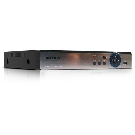 4 canales de alta definicion 1080P completo hibrido Ahd / IP ONVIF / Analogico / TVI / CVI / telefono remoto del CCTV DVR Grabador de video digital DVR P2P Sistema de Monitoreo de Seguridad a la Home Office Kit De camara de vigilancia (sin HDD) Plug In