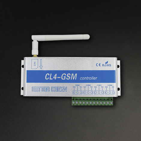4 Channels GSM Wireless Mobile Phone Remote Control Switch Controller Relay Intelligent Switch Phone Call SMS Pump