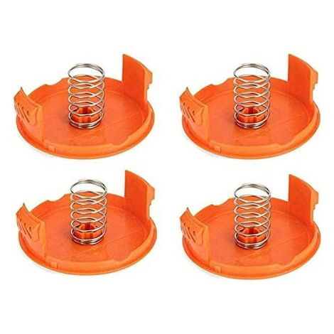 """main image of """"(4 Coil Covers + 4 Springs) Replacement Coil Cap for compatible with Black Decker GH900 LST201 GH600 NST2018 CST2000, Weed Eater Wacker Cap SOEKAVIA"""""""