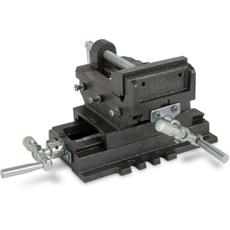 "4"" Cross Sliding Drill Press Vice (100 mm Jaws, 78 mm Opening, 90 mm Cross Moving, Dovetail Guide, Solid Construction)"