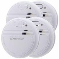 4 détecteurs de fumée NF - Autonomie 3 ans - Otio