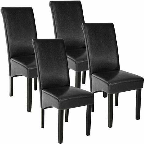 4 Dining chairs with ergonomic seat shape - dining room chairs, kitchen chairs, dining table chairs