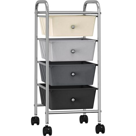 4-Drawer Mobile Storage Trolley Ombre Plastic