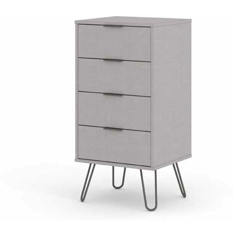 """main image of """"4 drawer narrow chest of drawers AGG517"""""""