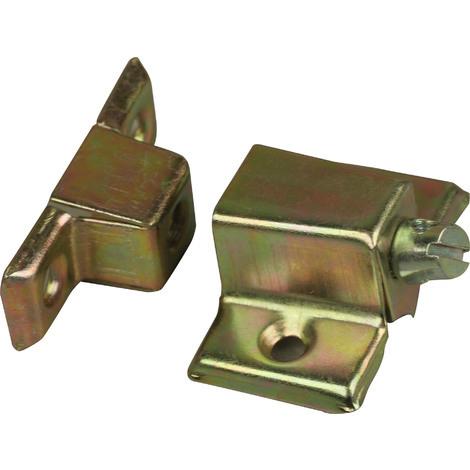 4 ferrures d'assemblage pour meuble 25x40x15 bichromate
