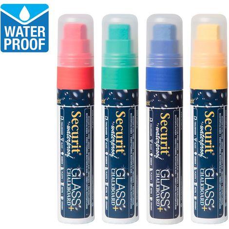 4 feutres craie couleur waterproof - Rouge, vert, bleu et jaune - 2.7 - Rouge, vert, bleu et jaune