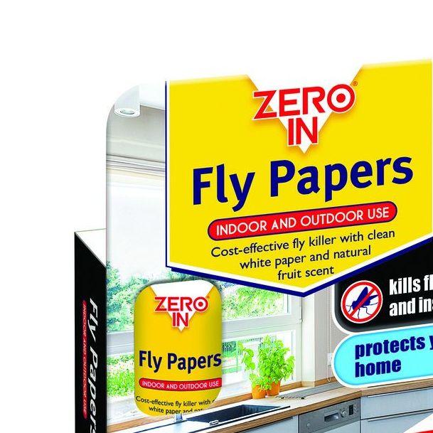4 Flypapers Zero ZERO015 Fly Papers