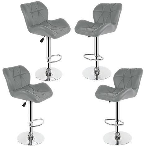 4 Gray European tank bar chair